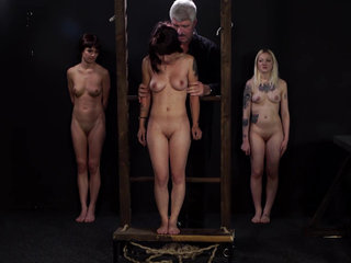 Redhead and blonde tortured