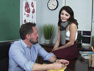 Pleasing her professor
