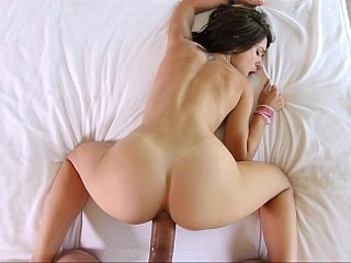 Spreading her legs and moaning