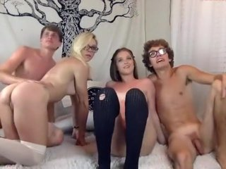 Exotic Homemade record with Group Sex, College scenes